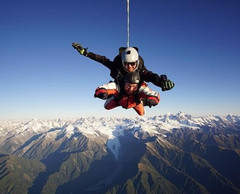 Skydive above Glacier