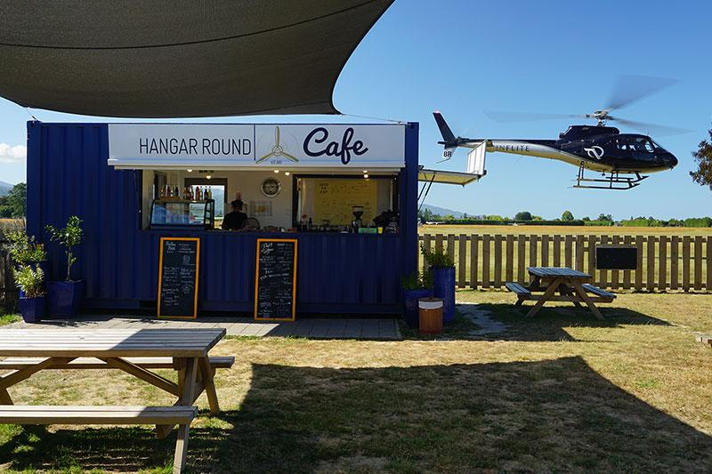 Hangar Round Cafe with INFLITE Helicopters