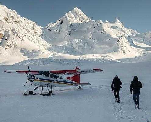 Mt. Cook Ski Plane Glacier Landing