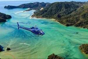 Nelson Tasman Air helicopter over the Abel Tasman