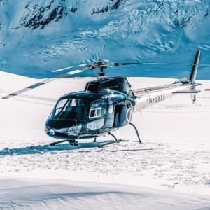 INFLITE helicopter on the Glacier of Mount Cook
