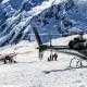 Mount Cook Ski Planes & helicopters landing on a glacier