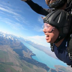 Skydive mt cook tandem skydive over the glacier and lake